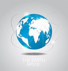 Globe icon planet earth vector