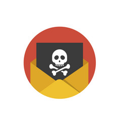 hacker attack icon concept of sending spam and vector image