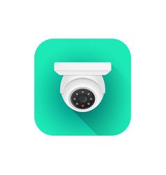 indoor dome surveillance camera vector image
