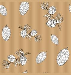 pine cones hand drawn sketch retro vintage vector image vector image