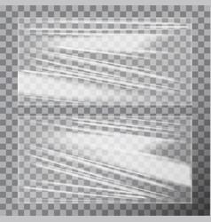 transparent glossy polyethylene plastic warp vector image vector image