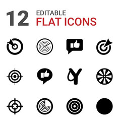 12 aim icons vector