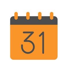 31 october calendar halloween related icon flat vector