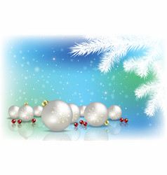 Abstract background with christmas decorations vector