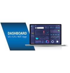 Admin panel design dashboard interface vector