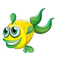 An ugly fish vector image