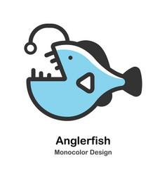 Anglerfish monocolor vector