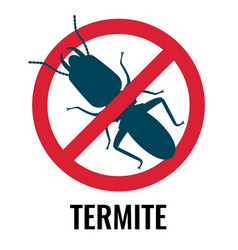 Anti-termite red and blue icon on vector