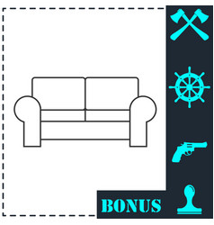 armchair icon flat vector image