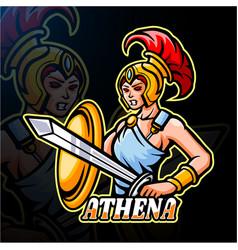Athena esport logo mascot design vector