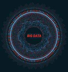 big data circular visualization vector image
