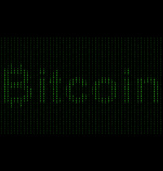 Binary code blockchain technology algorithm vector