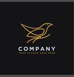 branch and bird logo icon template vector image