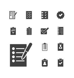 Checkbox icons vector