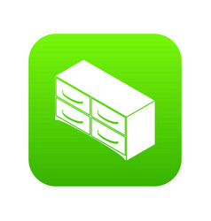 chest of drawers icon green vector image