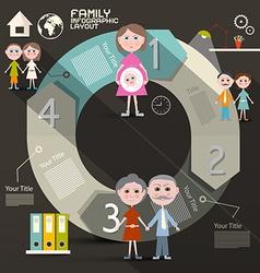 Circle Paper Retro UI Flat Design Infographics vector image
