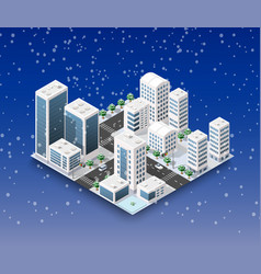 city winter landscape vector image