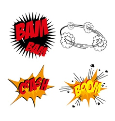 Comics icons over white background vector