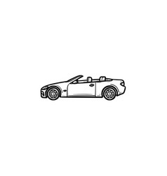 convertible car hand drawn outline doodle icon vector image
