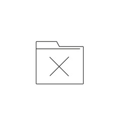 delete folder icon in flat style isolatedfor your vector image