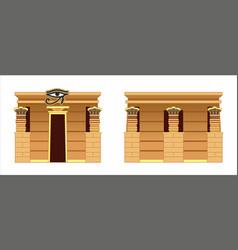 Egyptian temple vector