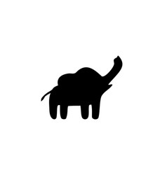 elephant silhouette isolated vector image