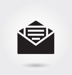 Email message glyph icon for any purposes vector