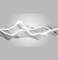 Eps10 wave particles abstract background with vector