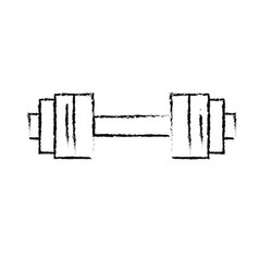 Figure dumbbell instrument to do exercise in the vector
