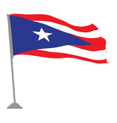 Flag of puerto rico vector