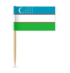 flag uzbekistan vector image