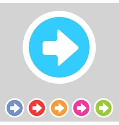 Flat game graphics icon arrow right vector image