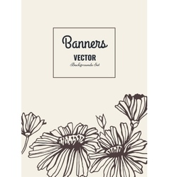 Flower template card vector