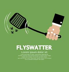 Flyswatter In Hand vector image