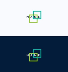 Frame geometric intersection logo vector