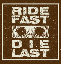 grunge style motorcycle t-shirt graphics ride vector image