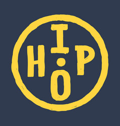 Hand drawn hip hop circular round hipster logo vector