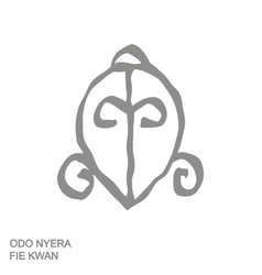 Icon with adinkra symbol odo nyera fie kwan vector