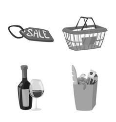 isolated object of food and drink icon collection vector image