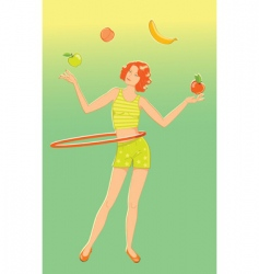 Juggler girl vector