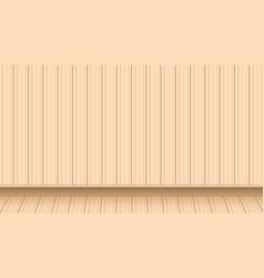 Light brown wooden floor background wall vector