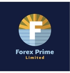 Logo for Forex companies style paradise by sea vector image