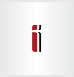 logo letter i red symbol logotype element vector image