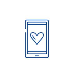 love messages line icon concept love messages vector image