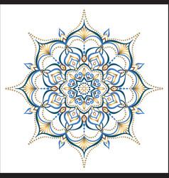 mandala design element round ornament vector image