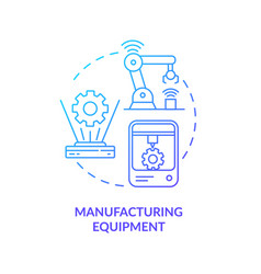 Manufacturing equipment concept icon vector