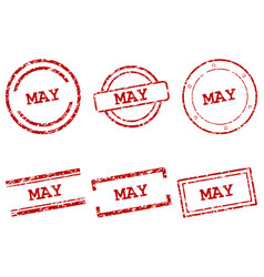 May stamps vector