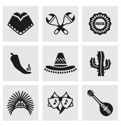 Mexico icon set vector image