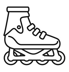 Modern inline skates icon outline style vector