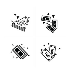 money falling icon design vector image